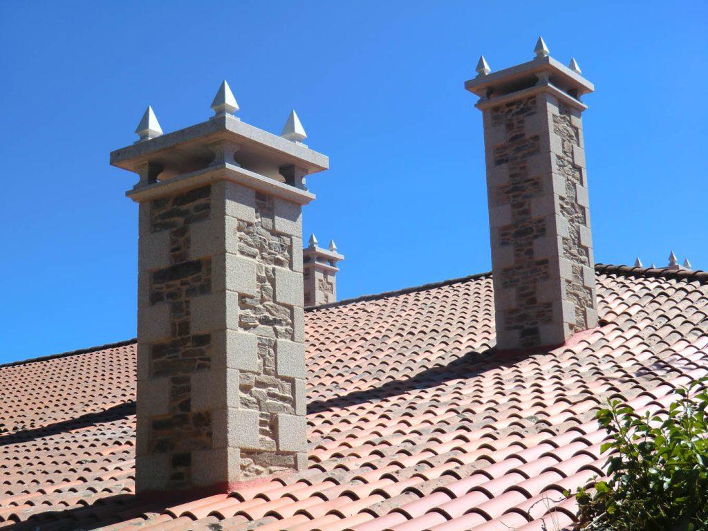 chimenea tejado prefabricada