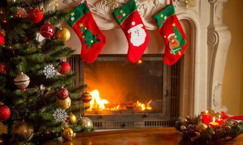 chimenea navidad manualidades