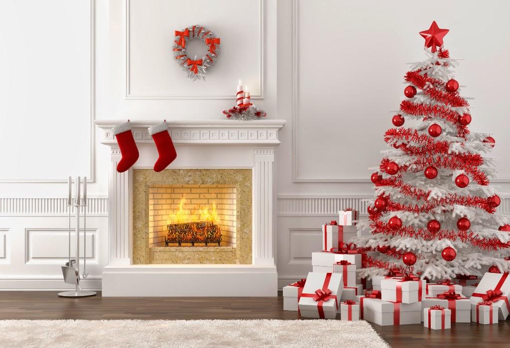 chimenea navidad dibujo