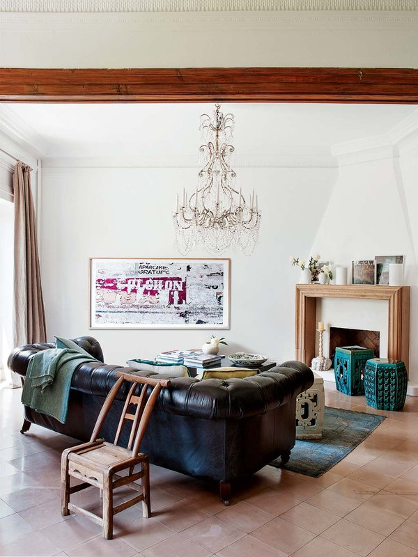 salones con chimenea el mueble