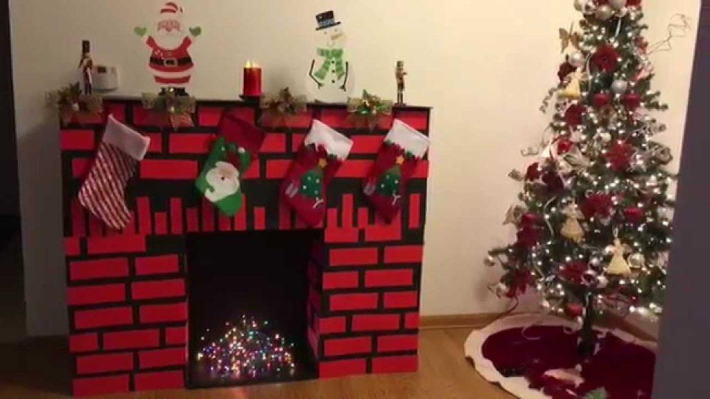 chimenea navidad con cajas