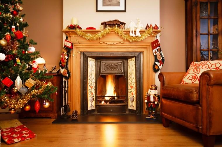chimenea navidad de cartón