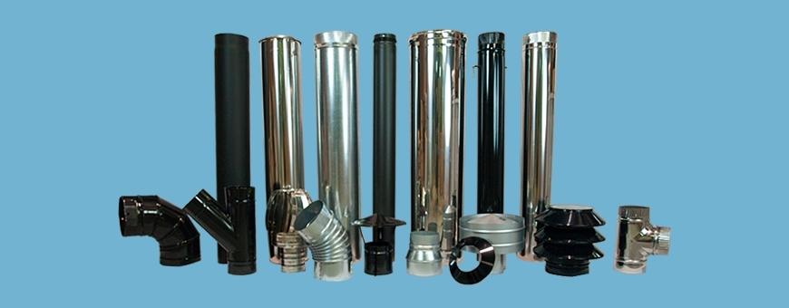 tubos para chimenea exterior
